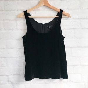 J. Crew Velvet Tank Top in Blac
